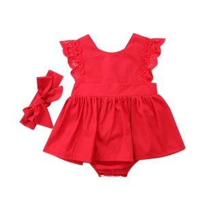 Other - Baby Girls Romper Dress Set